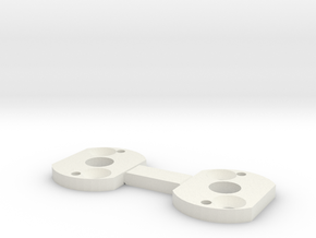 RC4WD Motor Plate in White Natural Versatile Plastic: 1:18