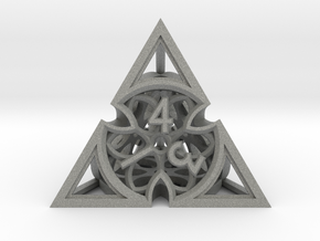 Gothic Rosette d4 in Gray PA12
