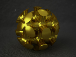 Bone Sphere in Polished Gold Steel
