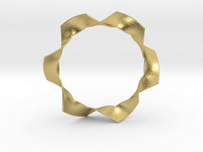 Folded Hexagram in Natural Brass: Small