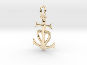 Camargue Cross Pendant - Christian Jewelry in 14K Yellow Gold