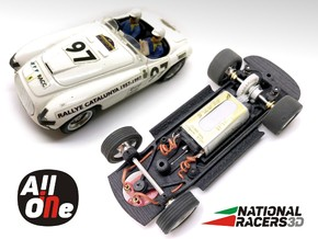 3D Chassis - NINCO Ferrari 166 MM (Inline - AiO) in Black Natural Versatile Plastic