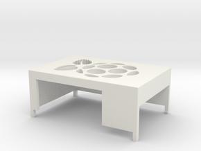Raspberry Pi 3 case top in White Natural Versatile Plastic