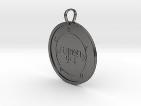 Zagan Medallion in Polished Nickel Steel