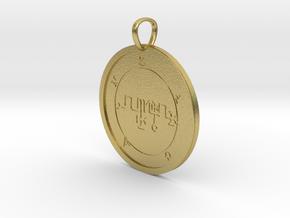 Zagan Medallion in Natural Brass