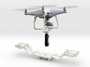 DJi Phantom Bottom Mount (fits Phantom 4, 3, 2 & 1 in White Natural Versatile Plastic