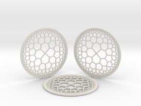 Hyperbolic T.Coasters (downloadable) in Matte Full Color Sandstone