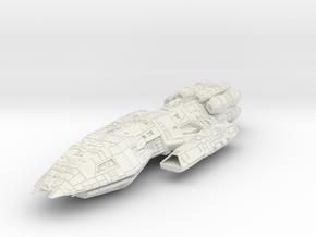 Battlestar HvyCrusier in White Natural Versatile Plastic