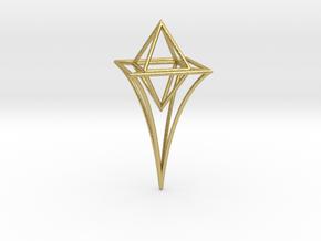 Celestial Scepter in Natural Brass