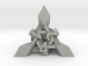 Intangle Die4 in Aluminum