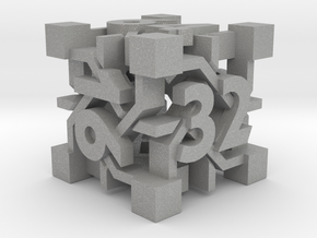 Intangle d6 Backgammon Doubling Cube in Aluminum
