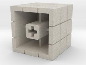 Artisan Cherry keycap Rubiks Cube in Natural Sandstone