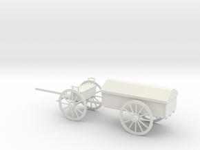 1/48 Scale Civil War Artillery Battery Wagon in White Natural Versatile Plastic