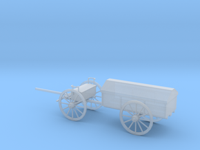 1/48 Scale Civil War Artillery Battery Wagon in Smooth Fine Detail Plastic