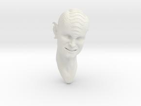 smiling blue alien 1/6 scale in White Natural Versatile Plastic