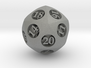 Overstuffed d20 in Gray PA12