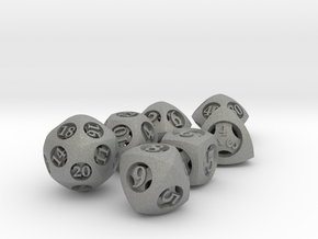 Overstuffed Dice Set with Decader in Gray Professional Plastic