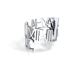 Al Fayha Ring in Polished Gold Steel