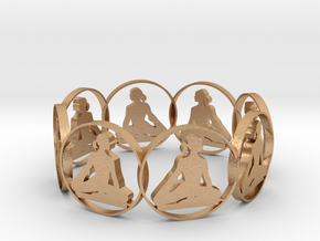 yoga bracelet in Natural Bronze