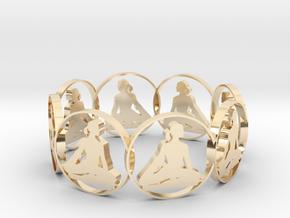 yoga bracelet in 14K Yellow Gold