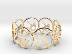 6 ring in 14K Yellow Gold