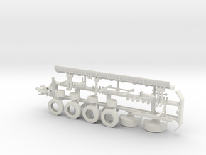 1/50th Tow Plow Trailer Frame in White Natural Versatile Plastic