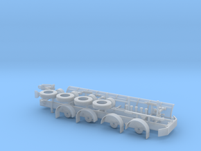 1/87th Tow Plow Trailer Frame in Smooth Fine Detail Plastic