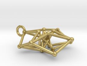 Toroidal Hypercube 35mm 1.5mm Time Traveller in Natural Brass