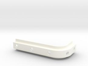 Spoiler brkt in White Processed Versatile Plastic