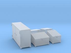 1/144 DKM Schnellboot Midship Deck Ammo Boxes Set in Smooth Fine Detail Plastic