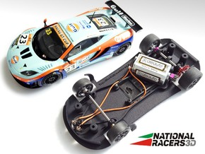 3D Chassis - SuperSlot Mclaren MP4 (AW/SW) in Black Natural Versatile Plastic