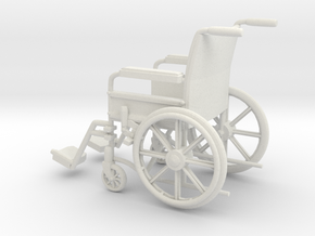 Wheelchair 01. 1:11 Scale in White Natural Versatile Plastic