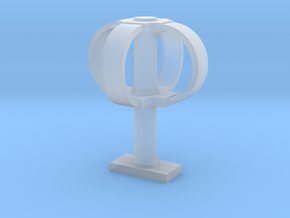 Eggbeater satellite antenna - 1/18 scale in Smooth Fine Detail Plastic