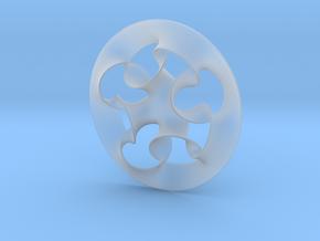 """Nine rings"" pendant in Smooth Fine Detail Plastic"