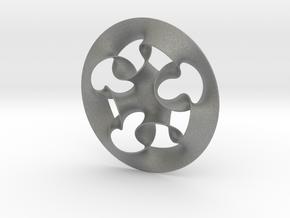 """Nine rings"" pendant in Gray Professional Plastic"