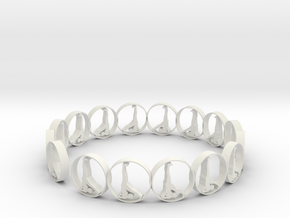 size 6 18.11 mm ring in White Natural Versatile Plastic