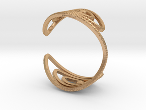 Serpentine Bracelet Bangle: Diamond Pattern in Natural Bronze