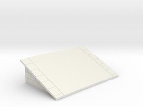 Platform Ramp OO / HO (for Hornby) in White Natural Versatile Plastic