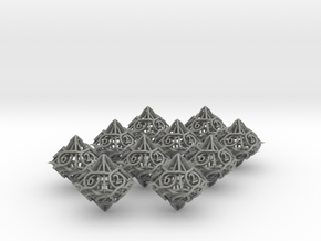 10d10 Thorn Dice Set in Gray PA12