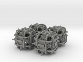 Fudge Thorn d6 4d6 Set in Gray PA12
