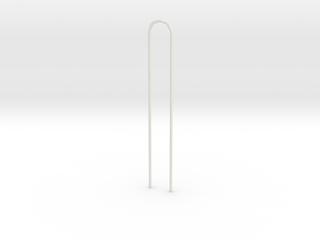 Bar in White Natural Versatile Plastic