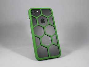 iPhone 7 DIY Case - Hexelion in Green Processed Versatile Plastic