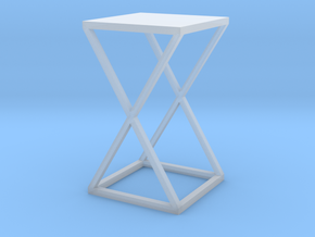 Xtra Side Table 1:12 scale in Smooth Fine Detail Plastic