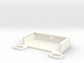 P3DH02, Housing Frame Mount in White Processed Versatile Plastic