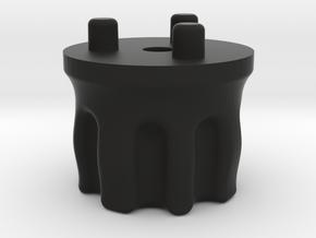 Emek/Etha 2 Bolt Cap - WARPED in Black Natural Versatile Plastic
