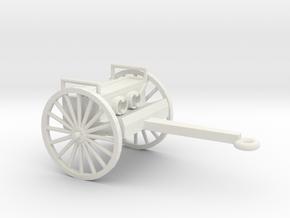 1/48 Scale 75mm Gun Caisson M1918 in White Natural Versatile Plastic