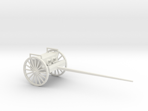 1/72 Scale 75mm Gun Caisson Limber M1918 in White Natural Versatile Plastic