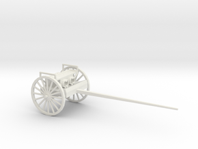 1/72 Scale 75mm Gun Carriage Limber M1918 in White Natural Versatile Plastic