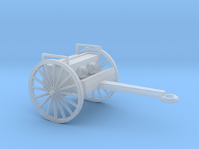 1/100 Scale 75mm Gun Caisson M1918 in Smooth Fine Detail Plastic
