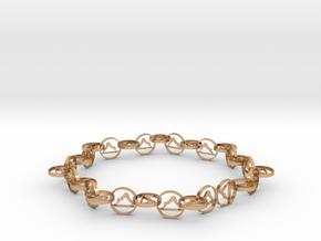 18.11 approximately size 6 ring in Polished Bronze (Interlocking Parts)